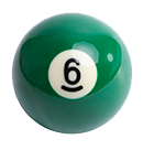 billiard ball 6