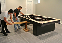custom pool table assembling