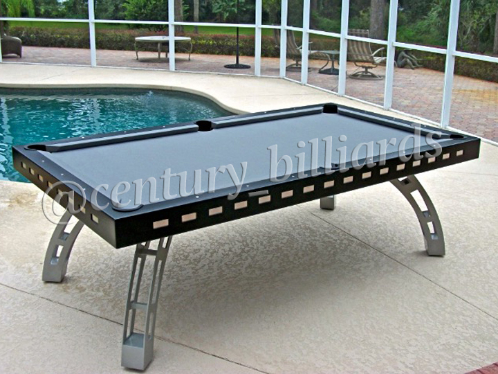 Custom outdoor pool tables by century billiards for Convert indoor pool table to outdoor