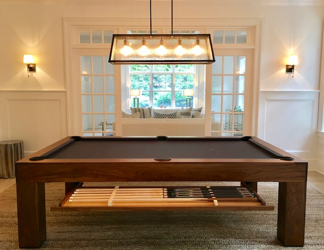 Custom Parsons Pool Tables with Cue Drawer