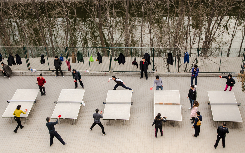 Ping Pong Tournament in China
