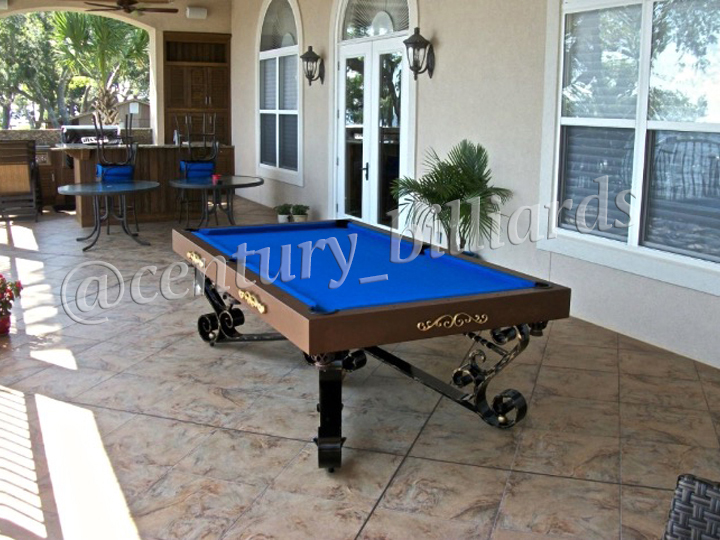 Custom Outdoor Pool Tables Ny For All Weather By Century