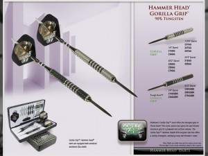 Gorilla Grip Hammer Head Darts