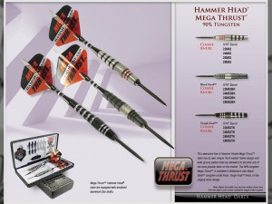 Mega Thrust Hammer Head  Darts