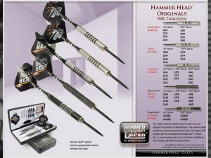 Original Hammer Head Tungsten Darts