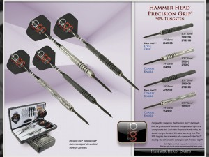 Precision Grip Hammer Head Darts